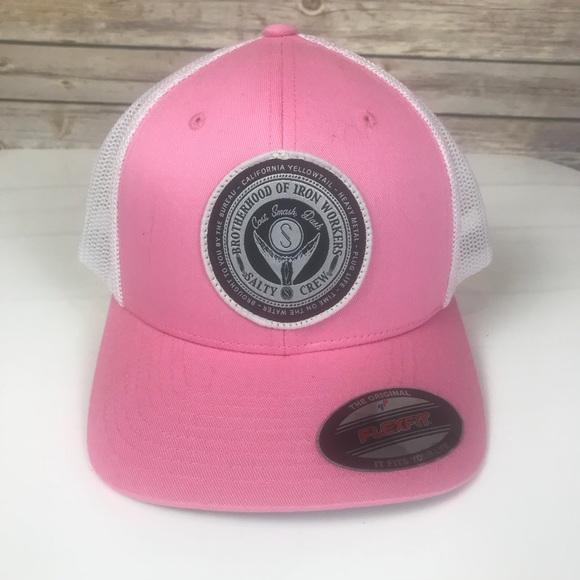 official photos f929a 00fad ... czech salty crew ball cap in pink flex fit nwt 93a71 1e316